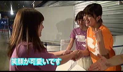トックリーナと握手。