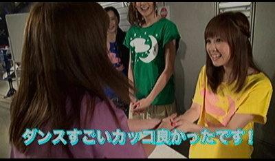 佐紀ちゃんと握手。