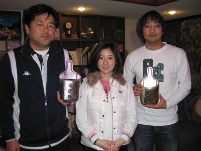 優勝の池田さんと準優勝の新家さんと