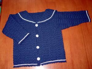 子供セーラー襟カーディガン 紺