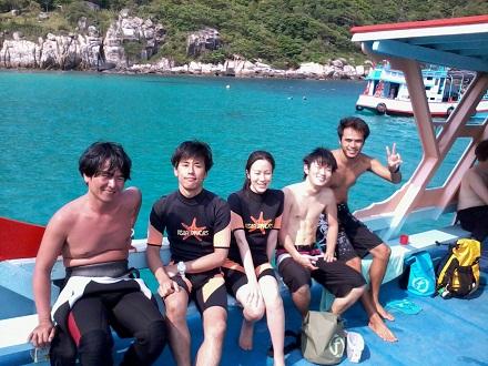 タオ島 ダイビング アジアダイバーズボート