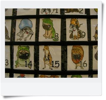 パグ&フレブルのイラストを使ったカレンダーアップ