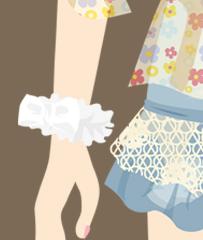 小花シフォンシュシュ