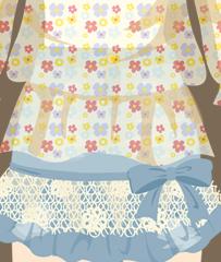 小花シフォンスカート