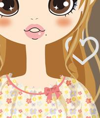 小花シフォン胸元