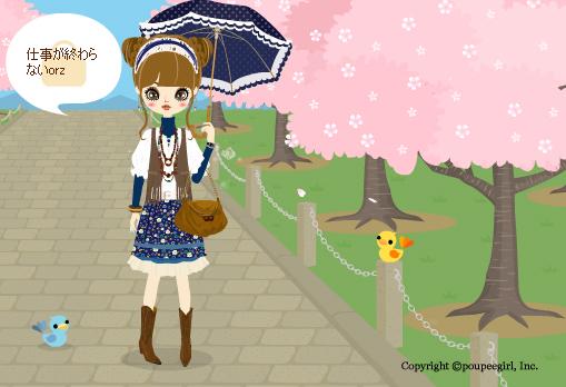 桜背景昼2