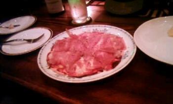 プロシュートのピザ