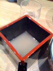 桃の木蕎麦湯割り100128
