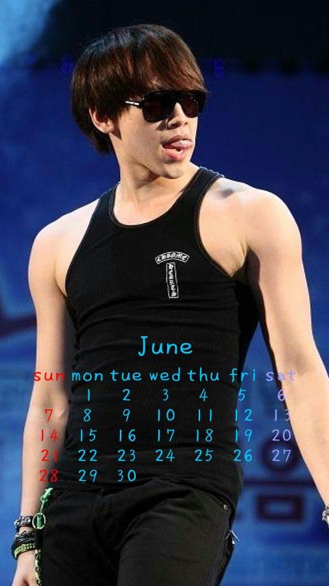 6月カレンダー480x854