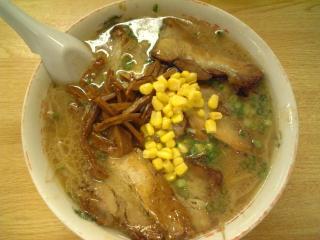 岡山駅前の金八ラーメンのチャーシュー麺1