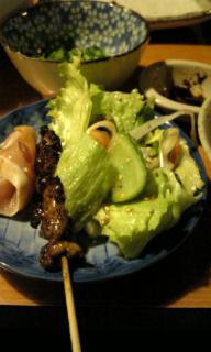 岡山市浜野のとり料理のお店「とり福」の串料理など