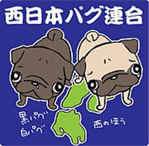 西日本パグ連合ステッカー1