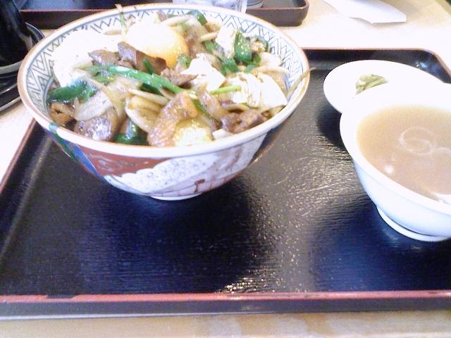 レバ野菜丼+生卵@茅場町 大勝軒