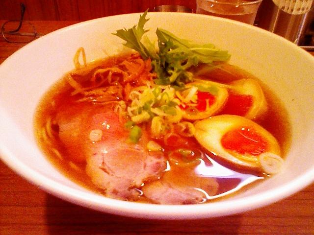 あっさり醤油ラーメン+味玉@麺 旬風