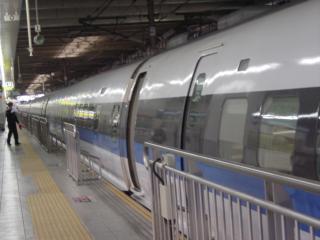 博多駅に着いた500系のぞみ9号。