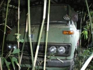 養豚場跡の廃車車両5『ダイハツデルタ2トントラック』その1