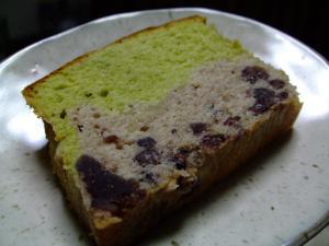 小豆と抹茶のパウンドケーキ♪