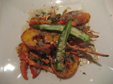 オマール海老のロースト マッシュルームのラグーソース