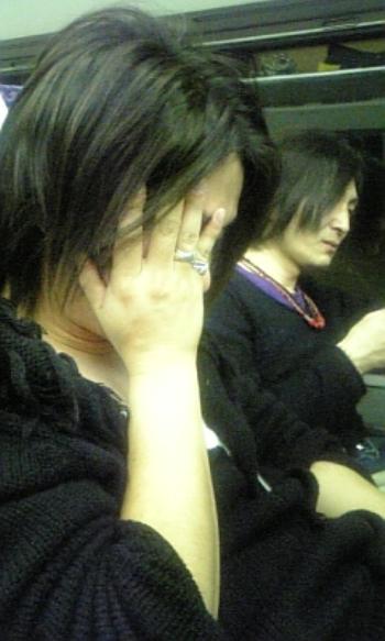 帰り新幹線お疲れモード