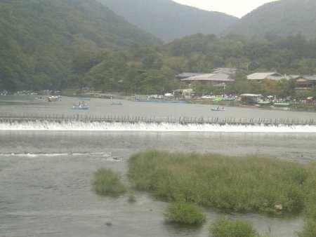 9,23渡月橋から桂川