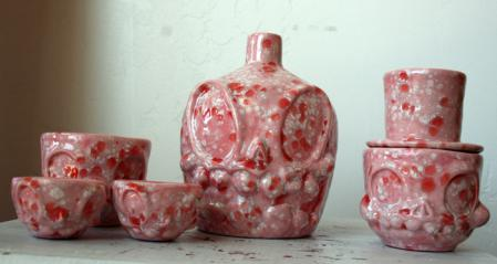 Belly Sake Set Pink