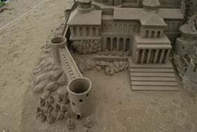 なぎさドライブウエイの砂像のディティールは凄い