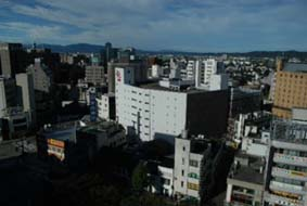 富山のアパヴィラホテル13fより