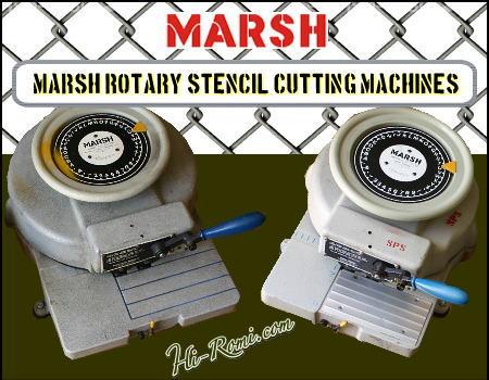 アメリカ ヴィンテージ MARSH社 ステンシルマシーン