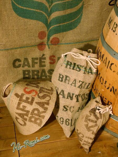 麻のコーヒー袋
