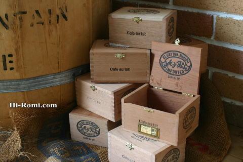 ヴィンテージ 木製シガーボックス 1