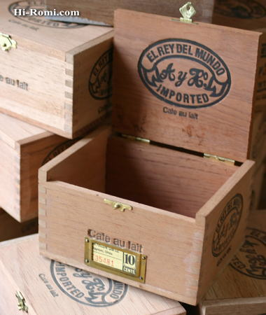 ヴィンテージ 木製シガーボックス 2