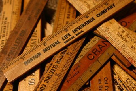 アンティーク 木製ルーラー