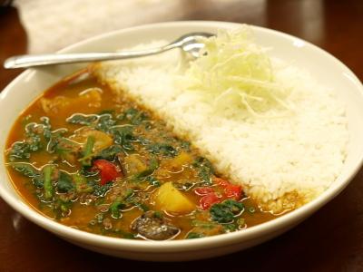 スープカレーの野菜カレーライス@カレ吉