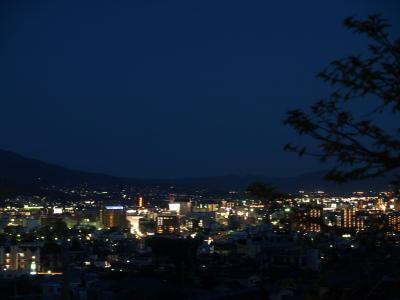 インド料理シュプラより眺めた松本平の夜景