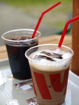 アイスコーヒー&カフェモカ@BERRY'S CAFE (ベリーズカフェ)