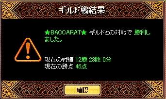 ★BACCARAT★戦結果