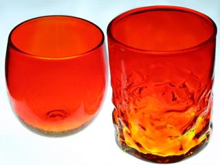 赤色,琉球ガラス
