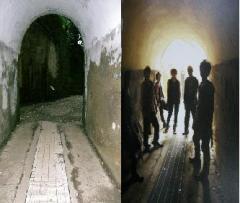 メンバーとトンネル内