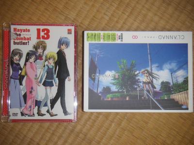 CLANNAD DVD Vol.8 & ハヤテのごとく! Vol.13