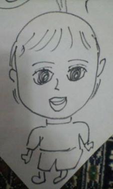 京子、孫を描く。