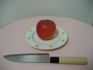 りんごと包丁