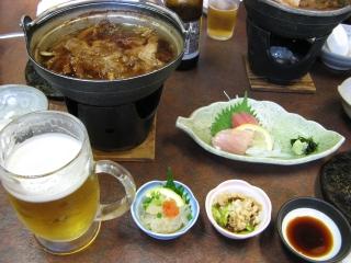 酒、鍋、刺身