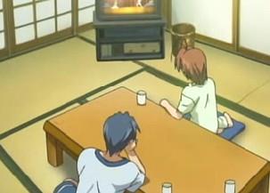 クラナド21話 ビデオを見る朋也と渚