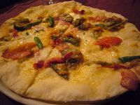 菜園風ピザ 夏野菜とベーコン