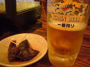 五郎 ビールと付き出し