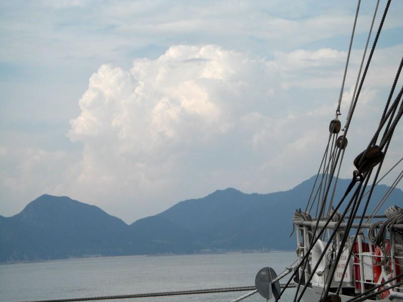 今治港からの風景2008年8月1日撮影