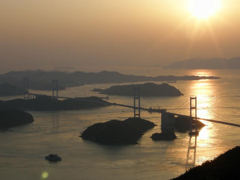 しまなみ海道 大島 亀老山 夕景