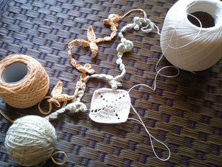 編みかけ色々