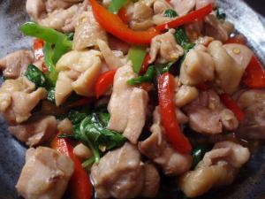 0903鶏肉のバジル炒め