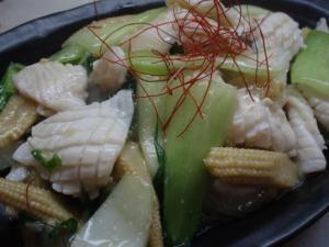 上海・イカの塩炒め